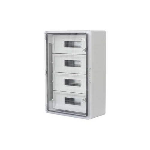 Фото Шафа удароміцна модульна ABS 400x600x200, 15x4 модулів, з прозорими дверцятами, IP65