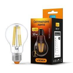 Лампа LED  VIDEX Filament A60F 10W E27 4100K 220V