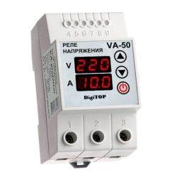 Реле напряжения с контролем тока V-protector VА-50А DigiTOP