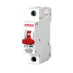 Однополюсный автоматический выключатель, 1 р, 16А, C, 10кА, e.industrial.mcb.100.1.C16