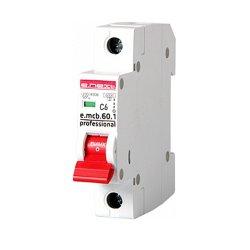 Однополюсный автоматический выключатель 1р, 6А, C, 6кА new, e.mcb.pro.60.1.C 6 new