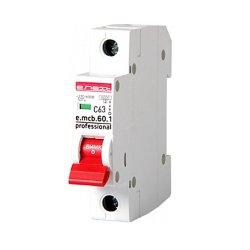 Однополюсный автоматический выключатель 1р, 63А, C, 6кА new, e.mcb.pro.60.1.C 63 new