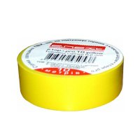 Фото Изолента из самозатухающего ПВХ, желтая, 10м, e.tape.pro.10.