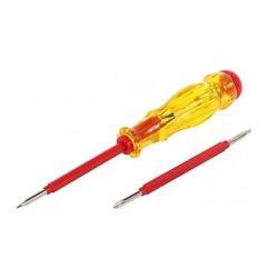 Отвертка индикатор прямой+крестовый шлиц АС100-500В 155х3хph0 e.tool.test06