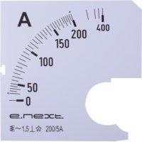 Фото Шкала для щитового амперметра АС 200А 72х72мм e.meter72.a200