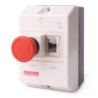 Фото Корпус пластиковый с кнопкой Стоп e.mp.pro.box IP54