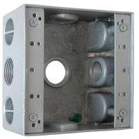 Фото Коробка монтажная металлическая без крышки с 3 резьбовыми вв