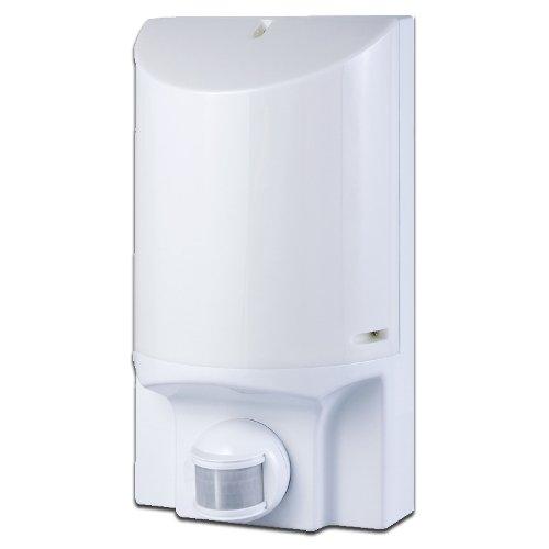 Фото Светильник с датчиком движения настенный e.sensor.lum.52.e27.white (белый) 180° IP44