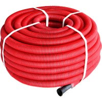 Фото Труба гофрированная двостенная Копофлекс красная 110(50м)