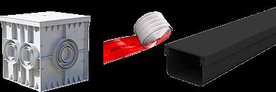 Фото Короб для подземной прокладки кабеля